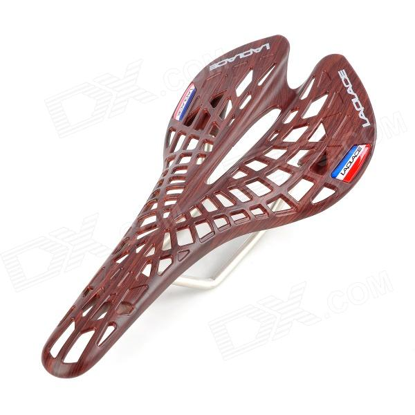 LAPLACE Replacement DIY Hollowed Cobweb Style Plastic Saddle - Brownish Red s35a 02a cobweb style plastic cool saddle white