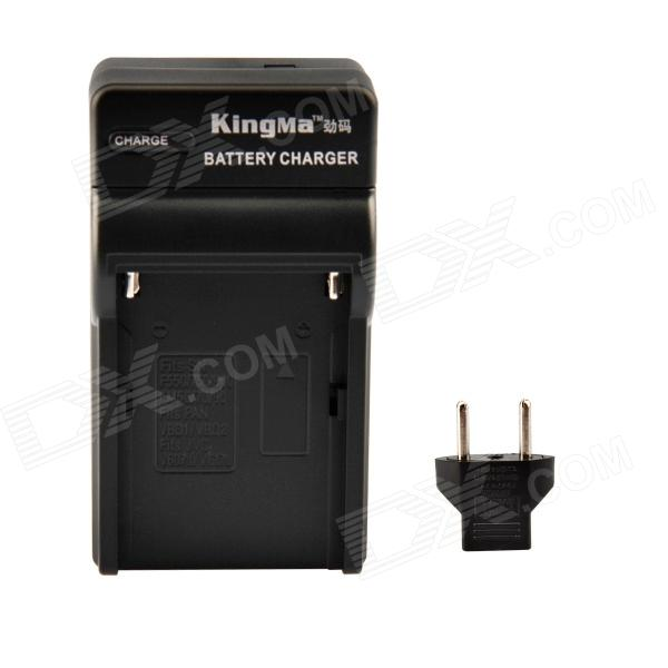 Kingma US Plug Battery Charger w/ EU Plug Adapter for Sony FM50 / QM71 / Panasonic VBD1 / JVC + More
