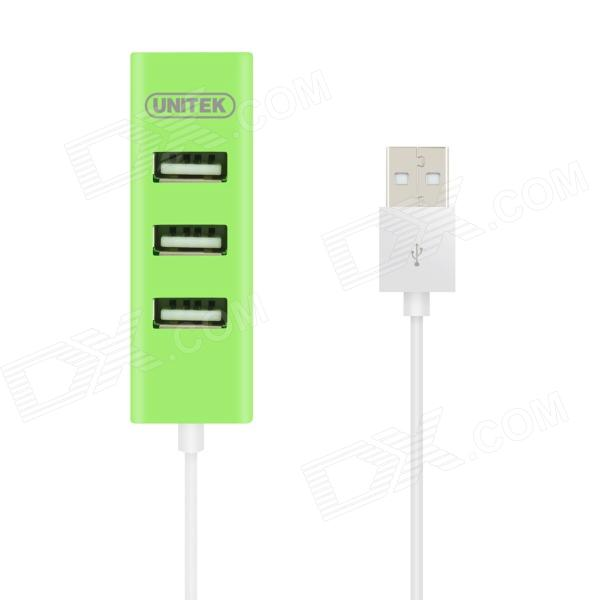 UNITEK Y-2140GN USB 2.0 4-Prot Charging / Transmit Data HUB - Green (80cm-Cable)