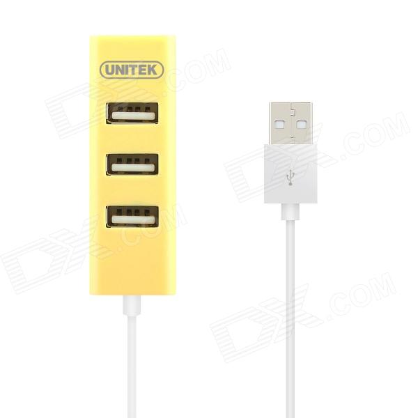 UNITEK Y-2140YE USB 2.0 4-Prot Charging / Transmit Data HUB - Yellow (80cm-Cable)