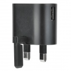 Mini Retractable 2A UK Plug Power Adapter for Samsung - Black (100~240V)