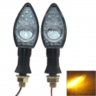 DIY Waterproof 4W Yellow 13-SMD LED Motorcycle Steering Light (2PCS)