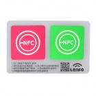13.56MHz NFC Smart Tag Set for Xiaomi / Meizu MX3 / Nokia Lumia / Samsung S4 - Pink + Green