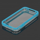 Protective Acrylic Anti-Scratch  Back Case for IPHONE 4 / 4S - Transparent + Blue