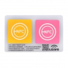 13.56MHz NFC Smart Tag Set for Xiaomi / Meizu MX3 / Nokia Lumia / Samsung S4 - Yellow + Pink