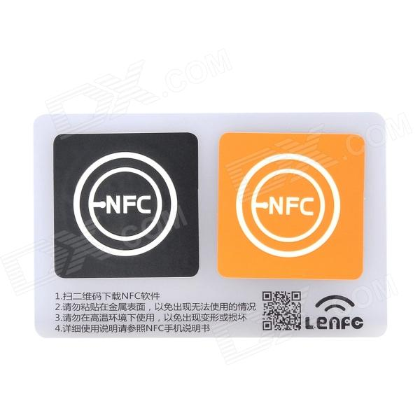 13.56MHz NFC Smart Tag Set for Xiaomi / Meizu MX3 / Nokia Lumia / Samsung S4 - Orange + Black