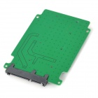 "PCI-E / mSATA to SATA 3 2.5"" SSD Adapter - Green + Black"