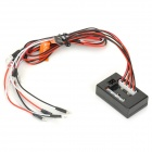 LK-1004C 8-LED Light Set for R/C 1/10 Gas / Electric Power Cars - Black + Red + White (4.8~7.5V)