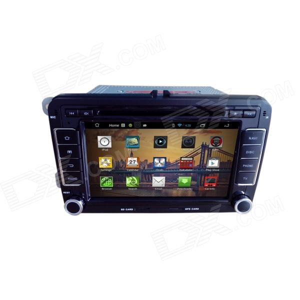 7 Android 4.2 Capacitive Screen Car DVD Player w/1024x600 IPS,GPS,RDS,WiFi,Radio,AUX,BT for VW SEAT joyous 1 6g dual core android 4 2 capacitive screen car dvd w radio gps rds bt wifi 3g
