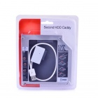 Multifunctional APPLE Notebook Hard Disk Caddy w/ 19cm USB Cable - Silver