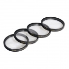 Highpro close up macro lenses kit (+1 / +2 / +4 / +10) diopter filters set - black (62 mm)