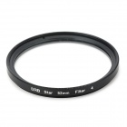 Universal Super Thin 52mm Star Fliter for DSLR Camera - Black + Transparent