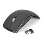 SUNGI Super Thin Foldable 2.4G Wireless Optical Mouse - Black (2 x AAA)