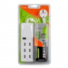 Compact Universal 6-Port USB Output EU Plug Extension Socket for IPHONE / IPAD / IPOD + More - White