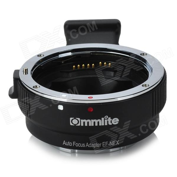 Commlite CM-EF-NEX Auto-focusing Canon EF Series Lens Auto Mount Adapter for Sony NEX Camera - Black viltrox ef nex iii auto focus adapter for canon eos ef ef s lens to for sony e nex a7 a7r a7sii a7ii a6300 a6000 full frame