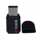 Mini Wi-Fi / WLAN Wireless Network USB 2.0 Adapter - Black