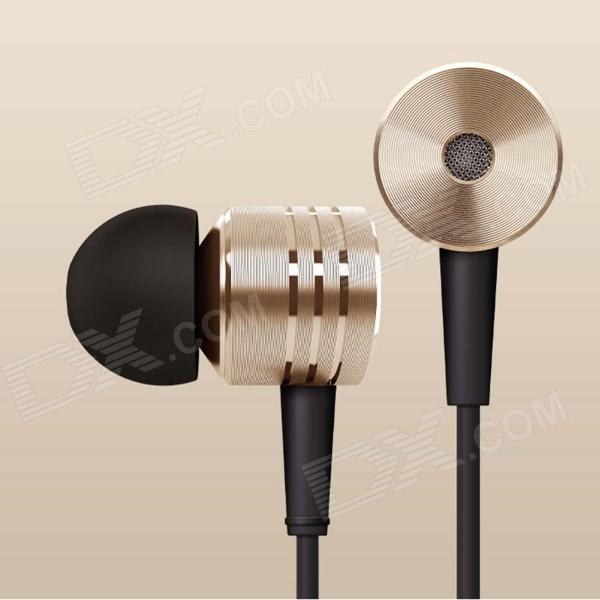 XIAOMI In-ear Earphone w/ Mic - Golden (3.5MM Plug) - DXHeadphones <br><br>