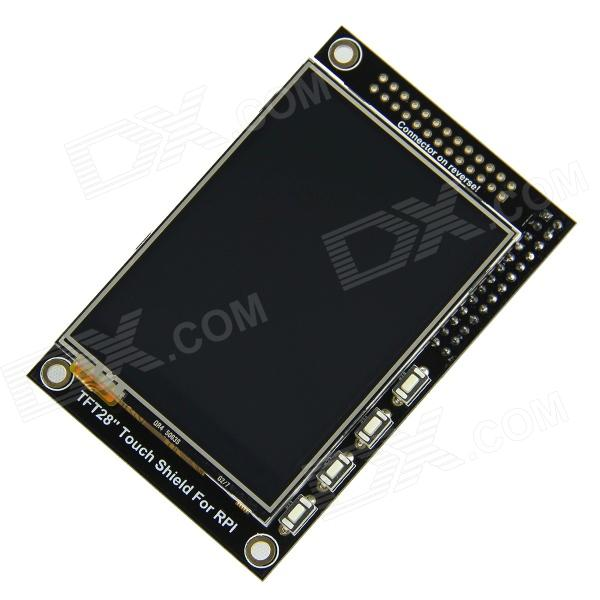 2.8 TFT Touchscreen Display Module for Raspberry Pi, 320x240p, 65536 Color Depth, SPI tengying l298n motor driver board for raspberry pi red