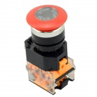 LA125B-11M Momentary-type Mushroom Button Switch - Black + Red