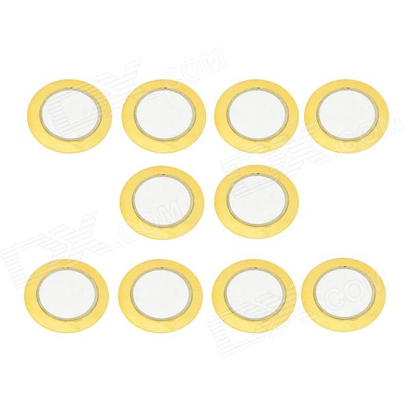 RMG A501 Brass Sounding Buzzer Sheets - Yellow (10 PCS) rmg a501 brass sounding buzzer sheets yellow 10 pcs