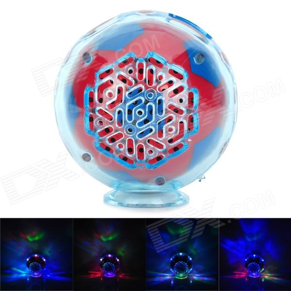 S-20 Mini Football Style Speaker w/ FM / Card Slot / LED Light - Red + Deep Blue (16GB Max.)