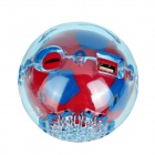 S-20 Mini Football Style Président w / carte FM / Fourche / LED - (. 16Go max) + Red Deep Blue