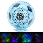 S-20 Mini Football Style Speaker w/ FM / Card Slot / LED Light - White + Black (16GB Max.)