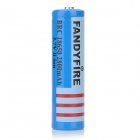 FANDYFIRE 18650 3.7V 2200mAh Rechargeable Li-ion Battery - Blue + Black + Multi-Colored