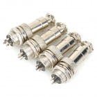 DIY 12mm 3-Pin GX12 Aviation Plug Connector - Silver (4 PCS)