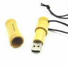 IDOMAX M009 Bamboo estilo USB 2.0 Flash Drive Stick - Amarillo (16 GB)