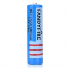 FANDYFIRE 18650 3.7V 2200mAh Rechargeable Li-ion Battery w/ Protection Board - Blue + Black