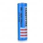 FANDYFIRE 18650 3.7V 1500mAh Rechargeable Li-ion Battery w/ Protection Board - Blue + Black