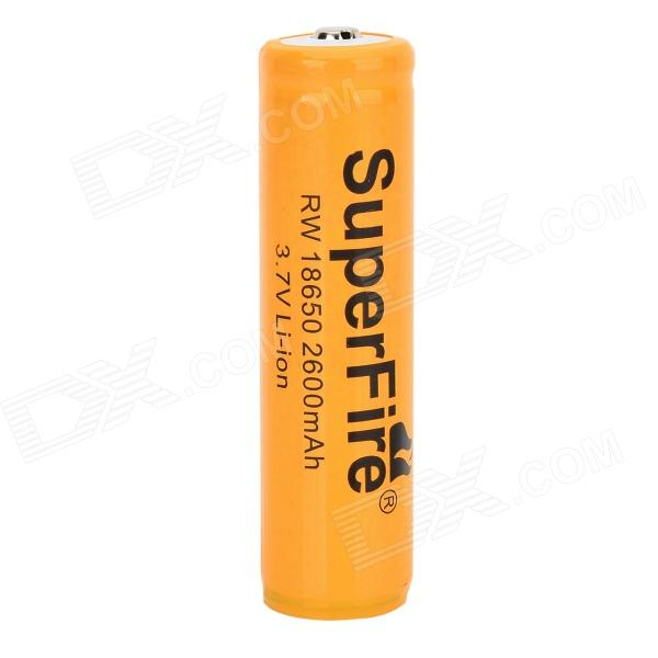 SuperFire 3.7V 2000mAh Rechargeable Li-ion 18650 Battery - Yellow + Black yes yes relayer cd dvd