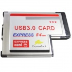 WBTUO Notebook 54MM Express Card to 2-Port USB 3.0 Card Adapter NEC Card