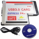 WBTUO Notebook 54MM Express Card 2-poorts USB 3.0 Card Adapter NEC Card
