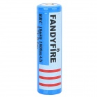 FANDYFIRE 3.7V 1500mAh Rechargeable Li-ion 18650 Battery - Blue + Black + White