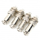 GX12-5 12mm Brass + Plastic Waterproof Connector - Silver (4 PCS)