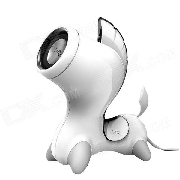 me-mu me-ma di stile unico cavallo portatile 3.5mm / USB Wired 2W Speaker-Bianco