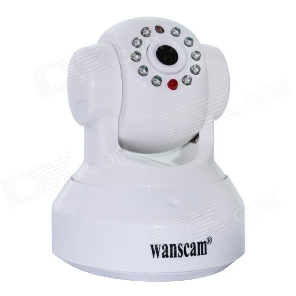 WANSCAM HW0024 1/4 CMOS 1.0MP Security Indoor Mini IP Camera w/ 10-IR-LED / TF Card / Wi-Fi - White wanscam jw0004 1 4 cmos 0 3mp wireless p2p indoor ip camera w 13 ir led wi fi white uk plug