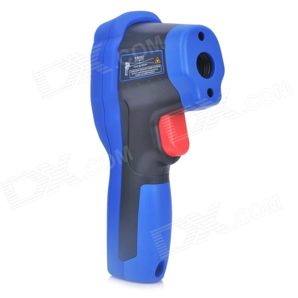 FLUS IR-820 Infrared LCD Thermometer w/ Type-K Input - Black + Blue (1 x 9V) center303 dual display digital thermometer measurement range 200c 1370c