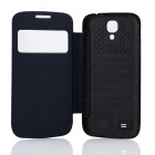 DOOGEE Protective PU Leather + Plastic Flip Open Case Cover for VOYAGER DG300 - Black + Blue