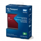 WD My Passport Ultra 2TB Portable External USB 3.0 Hard Drive with Auto Backup - Red
