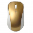 VMW-138 2.4G Wireless 2000dpi Laser Mouse - White + Golden (2 x AAA)
