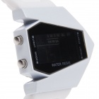 SUOXINI 9015 Plane Style Multi-function Silicone Strap LED Digital Men's Wrist Watch - White