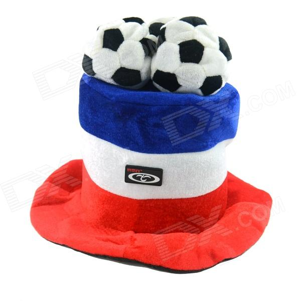 OUMILY 2014 Brazil World Cup Cotton Polyester Hat for France - Red + White + Blue brushed cotton twill ivy hat flat cap by decky brown