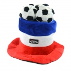 OUMILY 2014 Brazil World Cup Cotton Polyester Hat for France - Red + White + Blue