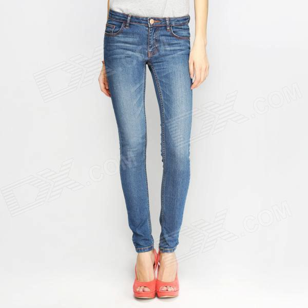 Mujeres Jeans Flaco Cotton + Polyester Leggings Sexy Pants - azul (talla 29)