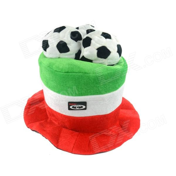 OUMILY 2014 Brazil World Cup Cotton Polyester Hat for Italy - Red + White + Green