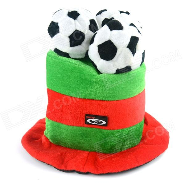 OUMILY 2014 Brazil World Cup Cotton Polyester Hat for Portugal - Red + Green