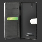 Suojaava Split Leather Case w / Stand Sony Xperia T2 Ultra - Valkoinen